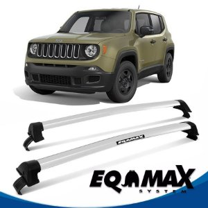 Rack Eqmax Jeep Renegade sem longarina New Wave 15/16 prata