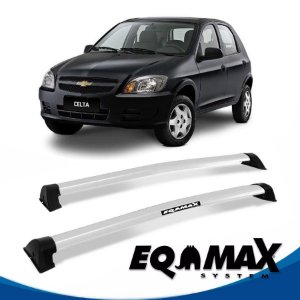 Rack Eqmax Chevrolet Celta 4 Pts Wave 00/11 prata