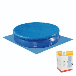 Kit Piscina Spash Fun 9000L + Capa + Forro + Filtro 110V