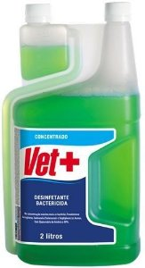 Desinfetante concentrado Vet +20 2 Litros Herbal