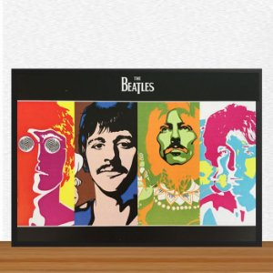 Quadro Decorativo The Beatles ArtMadeira 15x21 ref Q021