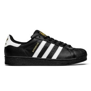 Tenis Adidas Superstar Fundation Preto com Branco