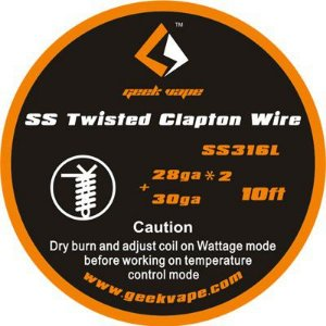 Fio SSL316L - SS Twisted Clapton Wire - 3 Metros - GeekVape