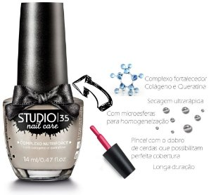 Esmalte Fortalecedor Studio 35 14 ml Professional Care #cream - 20 (Cintilante Perolado)
