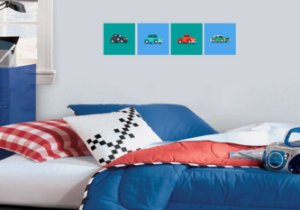 Placa Decorativa Carros 20x20