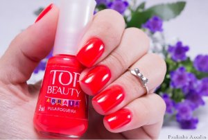 Esmalte Top Beauty Cremoso Pula Fogueira