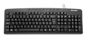 Multilaser Teclado Slim Multimídia Preto - TC070