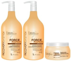 Kit Force Repair - Shampoo + Condicionador + Máscara - 3 Produtos Forever Liss