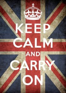 Placa MDF 28 x 20 - Keep Calm and Carry On