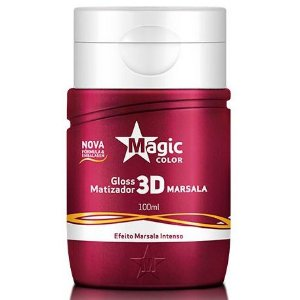 Magic Color Gloss Matizador 3D Marsala - Efeito Marsala Intenso - 100ml