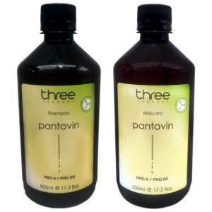 Three Therapy Pantovin Kit Fortalecimento Capilar (2x500ml)