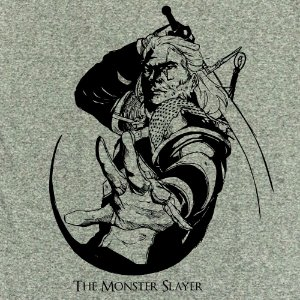 Camiseta The Witcher monster slayer