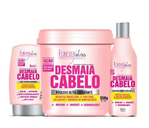 Kit Desmaia Cabelo Forever Liss - 3 Itens