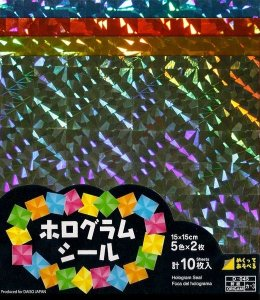 Papel P/ Origami Hologram Seal Daiso 15x15 (10fls)