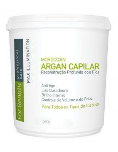 Creme Alisante Capilar Btox Max Illumination Argan Oil For Beauty 250g