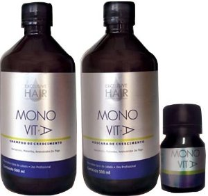 Kit Crescimento Capilar Monovit A com Ampola Exclusive Hair