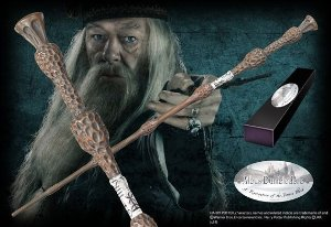 Réplica Original Varinha Professor Dumbledore na caixa simples por Noble Collection