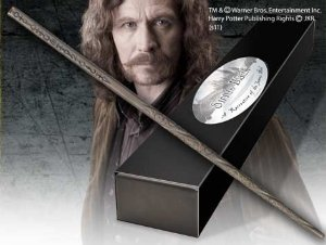 Réplica Original Varinha Sirius Black na caixa simples por Noble Collection