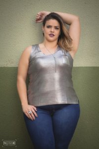Blusa Metalizada Plus SIze