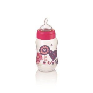 Mamadeira Boys & Girls PP Rosa Ortonatural 250Ml Multikids Baby - BB106
