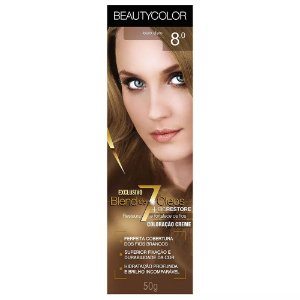 Tintura Beauty Color Bisnaga Nova 8.0 Louro Claro