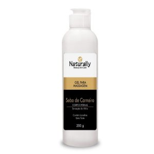 Naturally Gel para Massagem Sebo de Carneiro 200grs