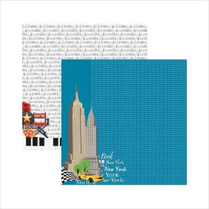 Folha de Scrapbook New York Prédios
