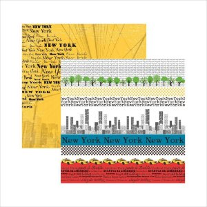 Folha de Scrapbook New York Faixas
