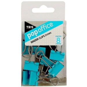 Pop Office Binder Clips 8 Unidades Azul