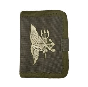 Carteira NAVY SEALS Com Velcro Bordada
