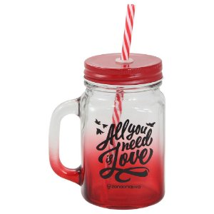Caneca Canudo - All You Need Is Love