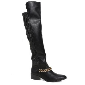 Bota Montaria Via Marte Over Knee 15-5904 Preta