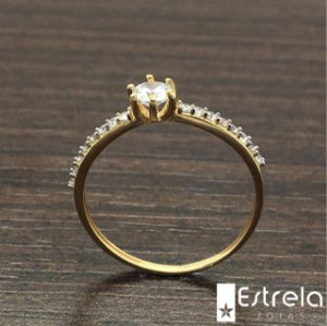 ANEL OURO 18K AN2