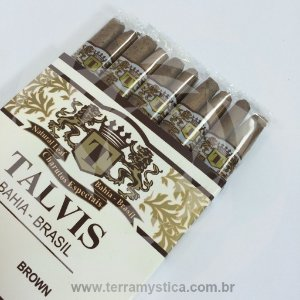 CIGARRILHA TALVIS BRASIL BROWN - Chocolate :: Com 10 Unidades