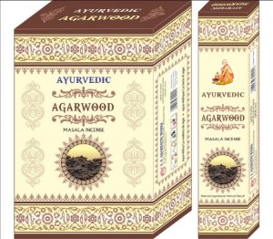 INCENSO DE MASSALA - AYURVEDIC AGARWOOD