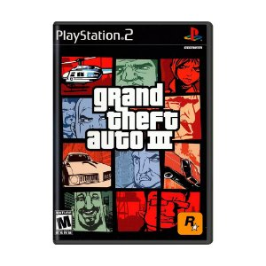 Jogo Grand Theft Auto III - GTA 3 - PS2