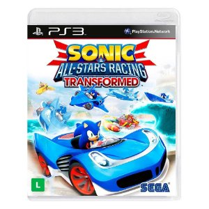 Jogo Sonic e All-Stars Racing Transformed - PS3