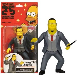 Action figure Penn Jillette The Simpsons 25th Anniversary Series 3 - Neca