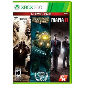 Jogo 2K Power Pack: The Darkness II + Bioshock 2 + Mafia II - Xbox 360