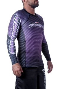 Rash Guard Carbon Roxa ML Camiseta Lycra StormStrong