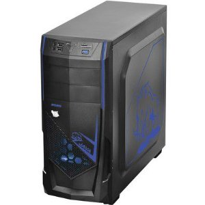 GABINETE MID-TOWER JAVA COM 1 FAN LED AZUL LATERAL EM ACRILICO - JAVAPTOVM2FCA - PCYES