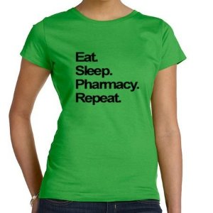 Camisa Eat. Sleep. Pharmacy. Repeat. Feminina