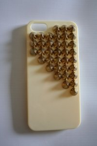 Capa iPhone 5 Spikes Trapézio Bege