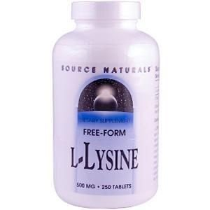 L-Lysine, Source Naturals, 500 mg, 250 Tablets
