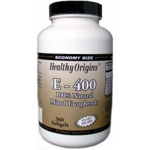 Vitamina E-400, 100% Natural Mix Tocoferol, Healthy Origins, 360 Softgel Caps