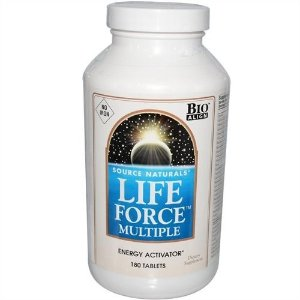 Multivitamínico Life Force Multiple, Sem Ferro, Source Naturals, 180 Tabletes