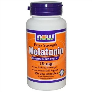 Melatonina, Now Foods, 10 mg, 100 Veggie Caps