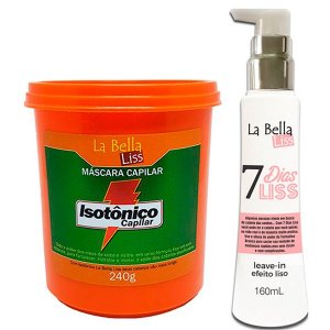 La bella Liss - Kit Isotônico Capilar 240g + Leave-in 7 Dias Liss 160ml