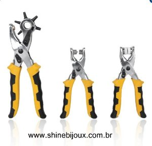 Kit de Alicates Furadores Couro Shine Beads®
