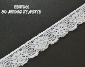 Renda Elastano 30mm para faixas e bordados Shine Beads®